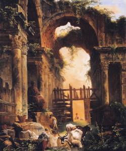 Roman Ruins by Robert Hubert, c. 1760