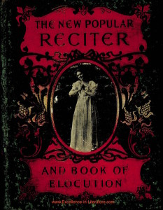 the new popular reciter and book of elocution by F. P. Pogle and G. M. Vickers
