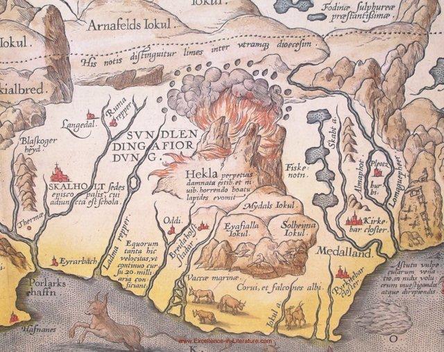 Map of Mount Hecla
