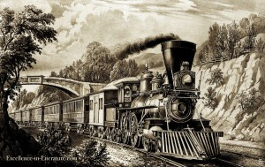 Steam train for Hearts and Hands by O. Henry
