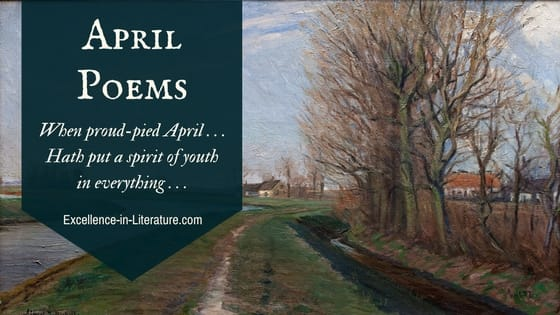 April poems with a painting by Albert Gottscchalk