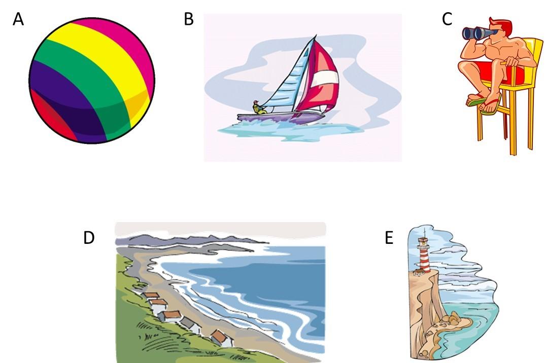 Esl At The Beach Vocabulary
