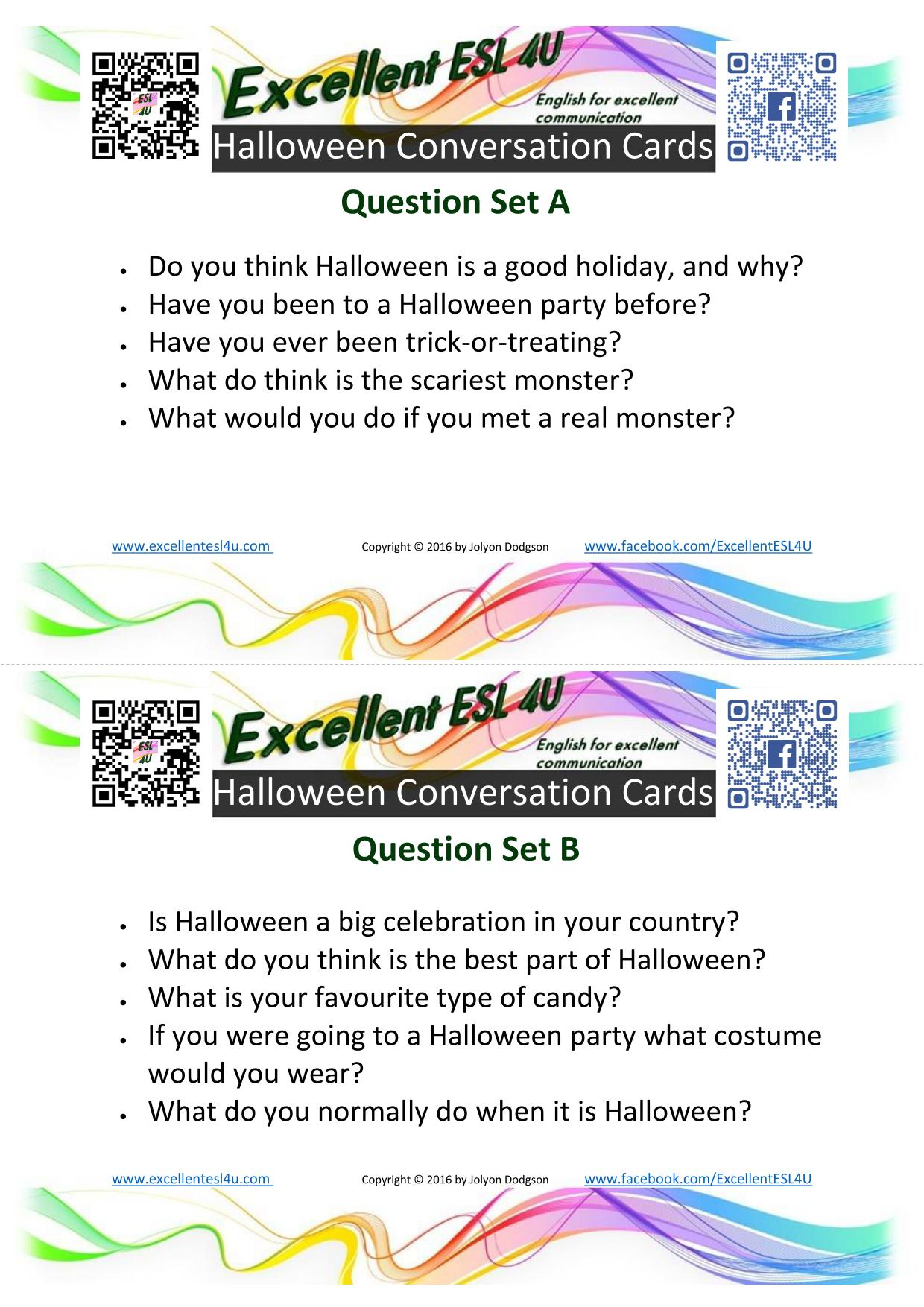 Esl Halloween Conversation