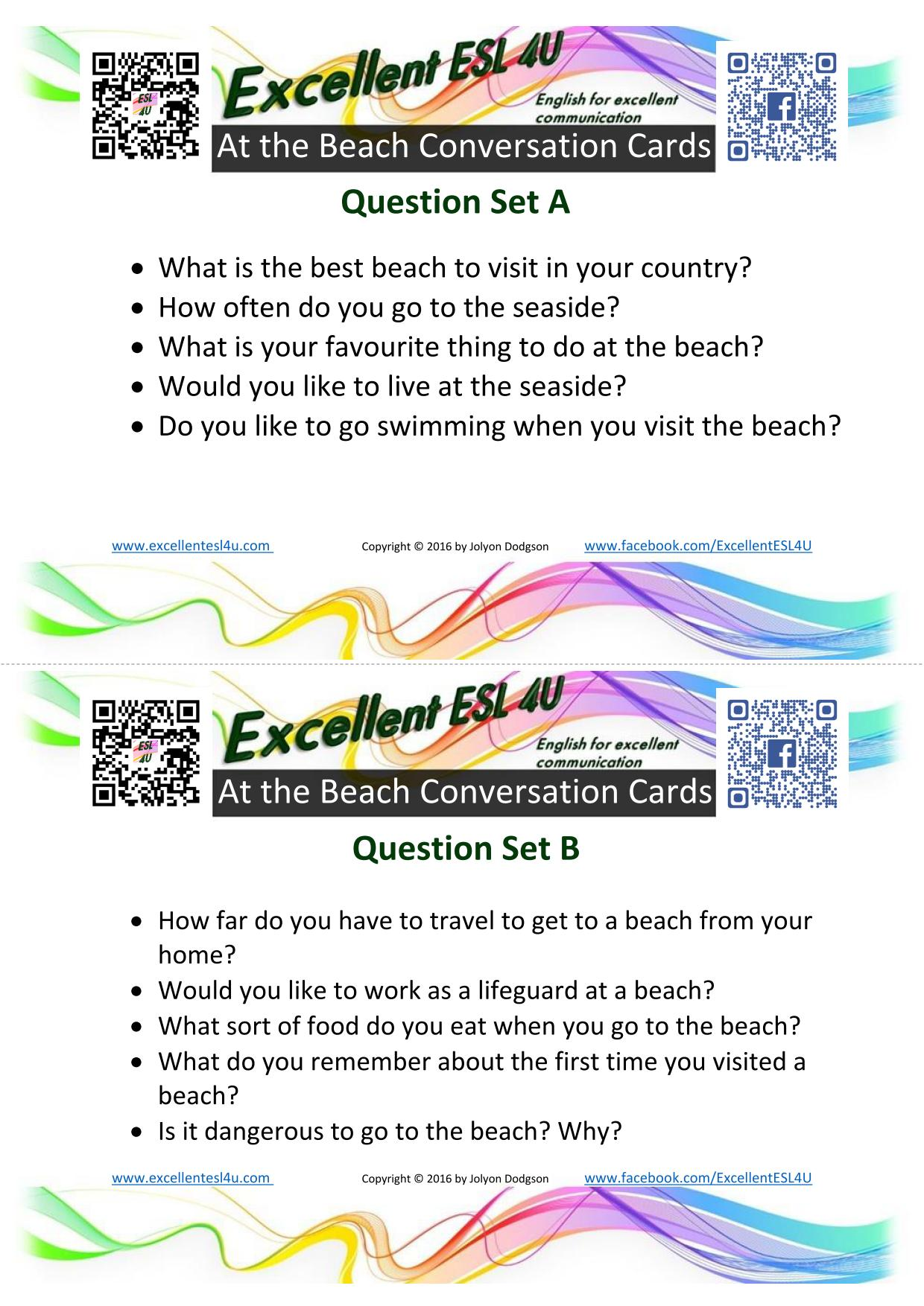 Esl At The Beach Conversation