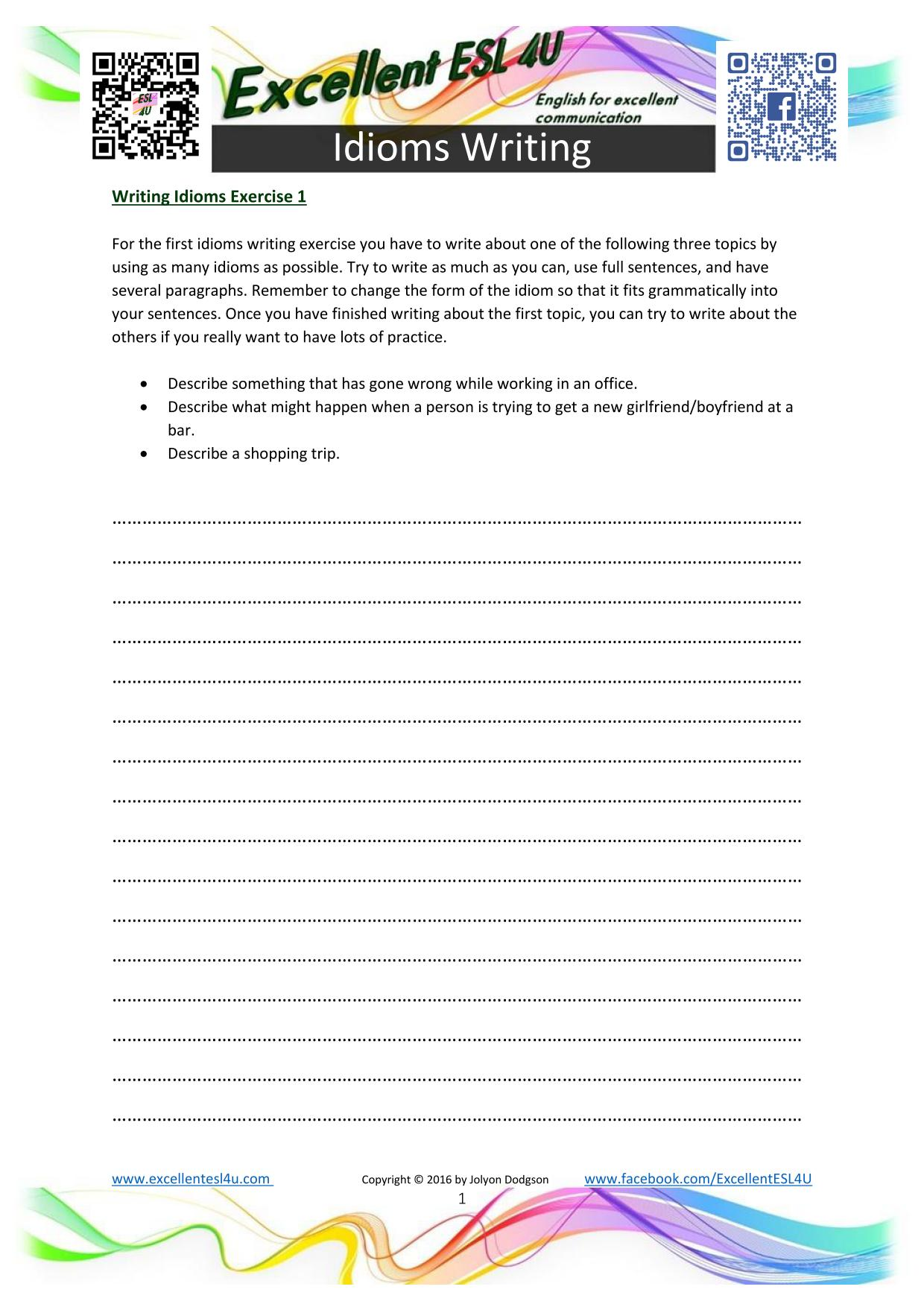 Idioms Worksheets