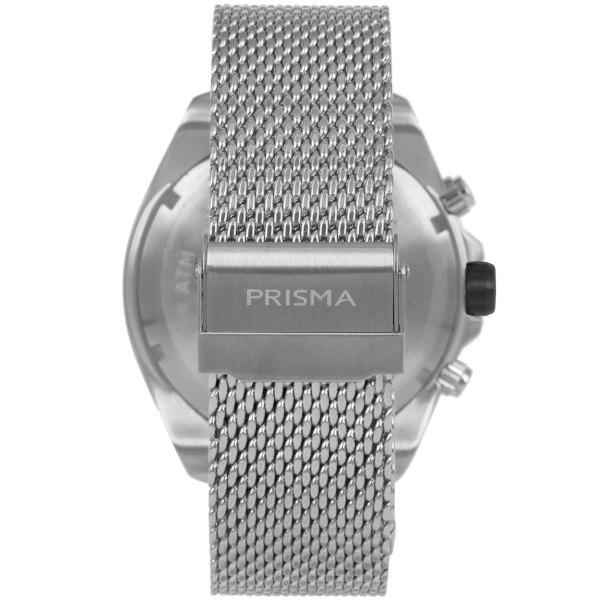 PRISMA-P1325-HEREN-HORLOGE-CHRONOGRAAF-MESH-ZILVER-ACHTERKANT