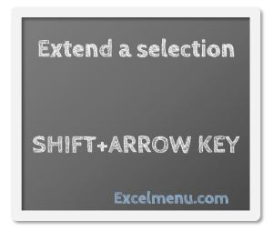 Extend a selection