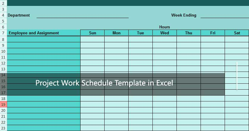 Manage homework assignments or group projects with an excel schedule template. How To Use Project Work Schedule Template In Excel Excelonist