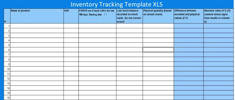 Free Inventory Tracking Excel Template