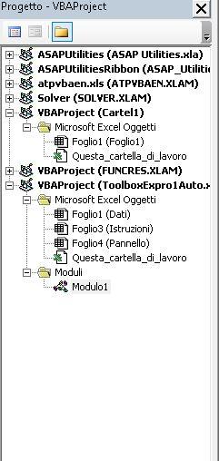 finestra progetto
