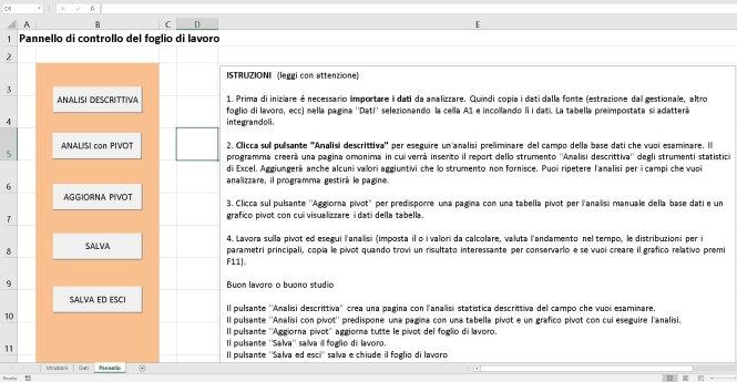 Foglio Excel automatizzato