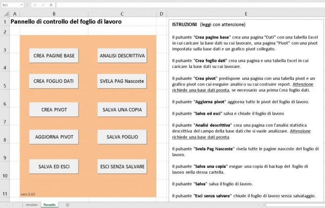 Macro vba - Fogli di lavoro Excel automatizzato con set strumenti base Expro