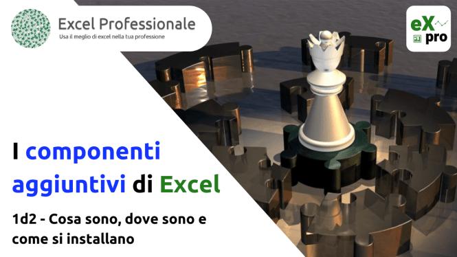 I componenti aggiuntivi di Excel