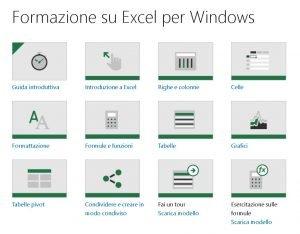 Formazione su Excel