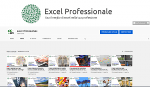 Canale youtube di Excel Professionale