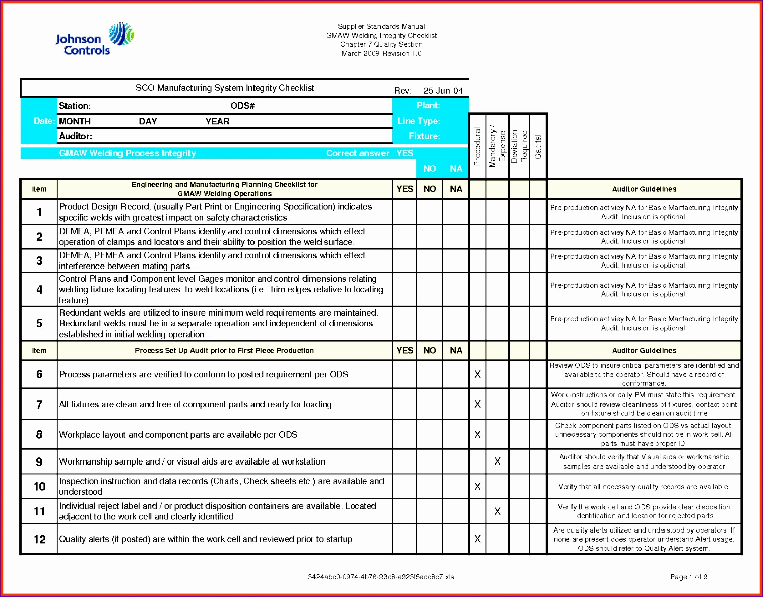 10 Action Items Template Excel