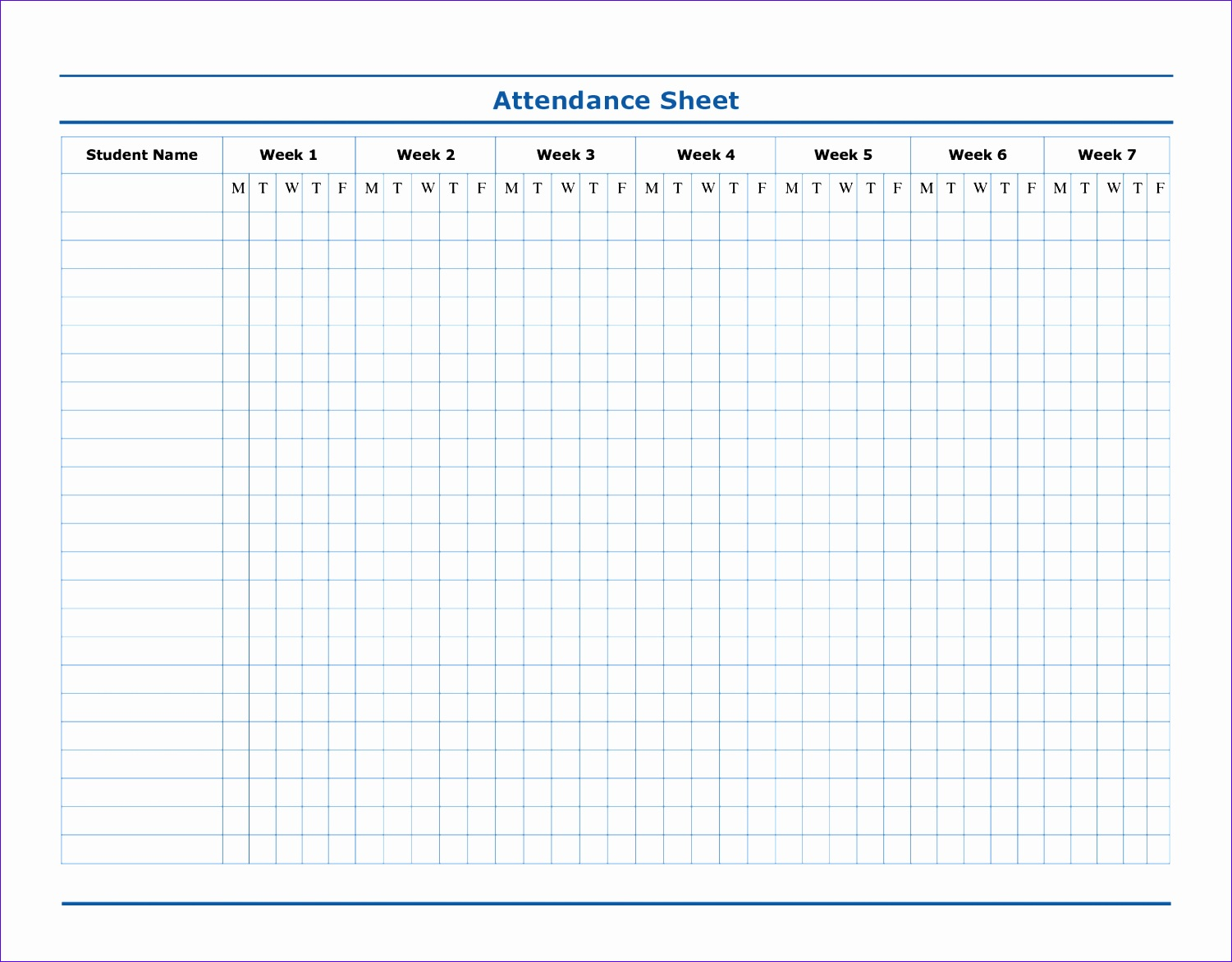 12 Attendance Roster Template Excel