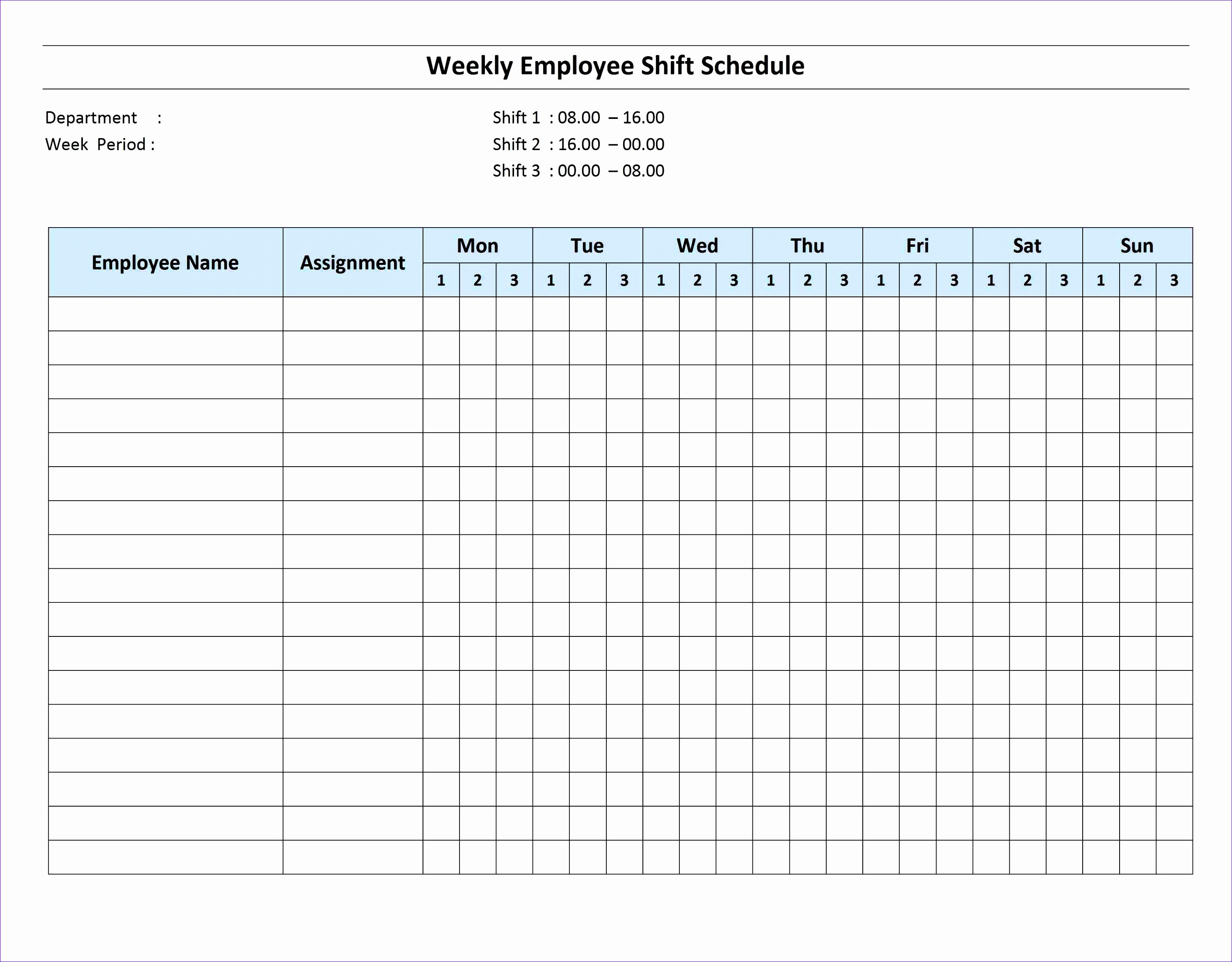 10 Excel Monthly Work Schedule Template
