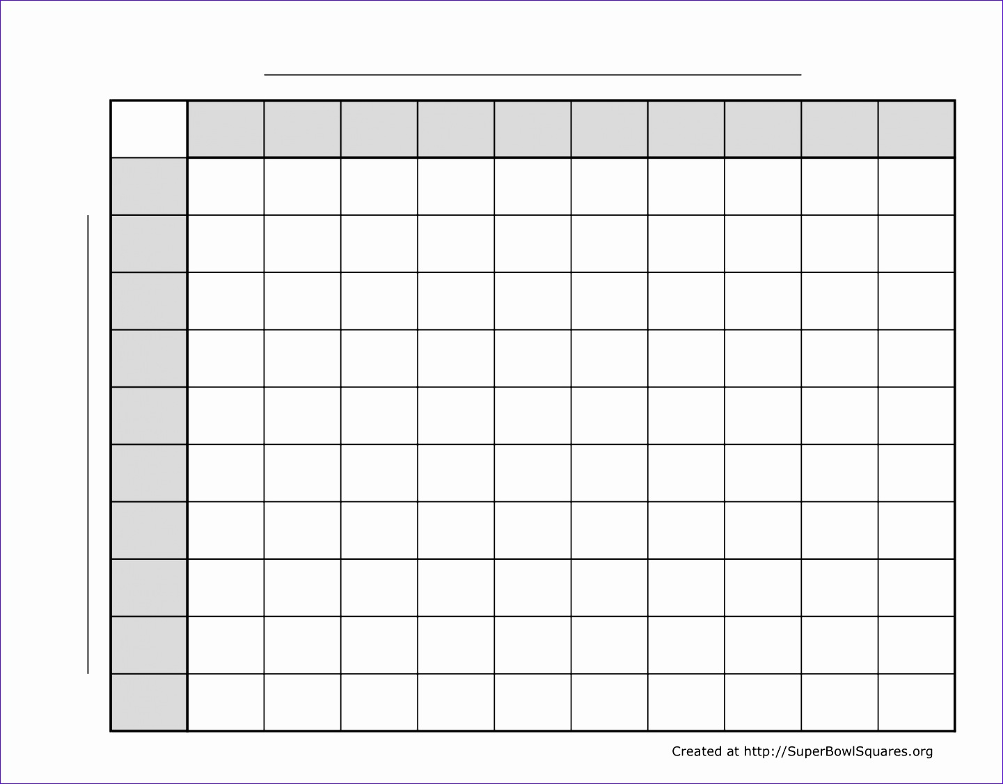 12 Excel Super Bowl Squares Template