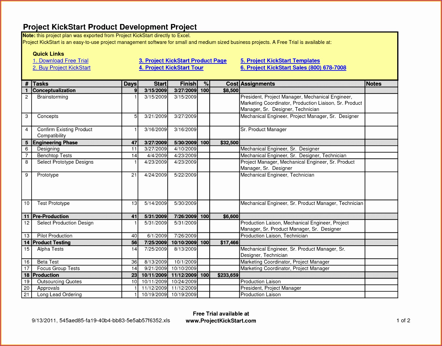 6 Excel Task Scheduler Template