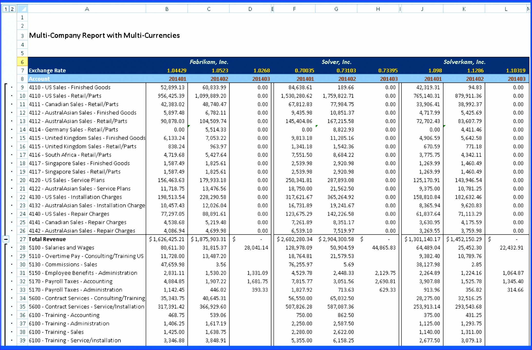 5 Excel Templates For Financial Statements