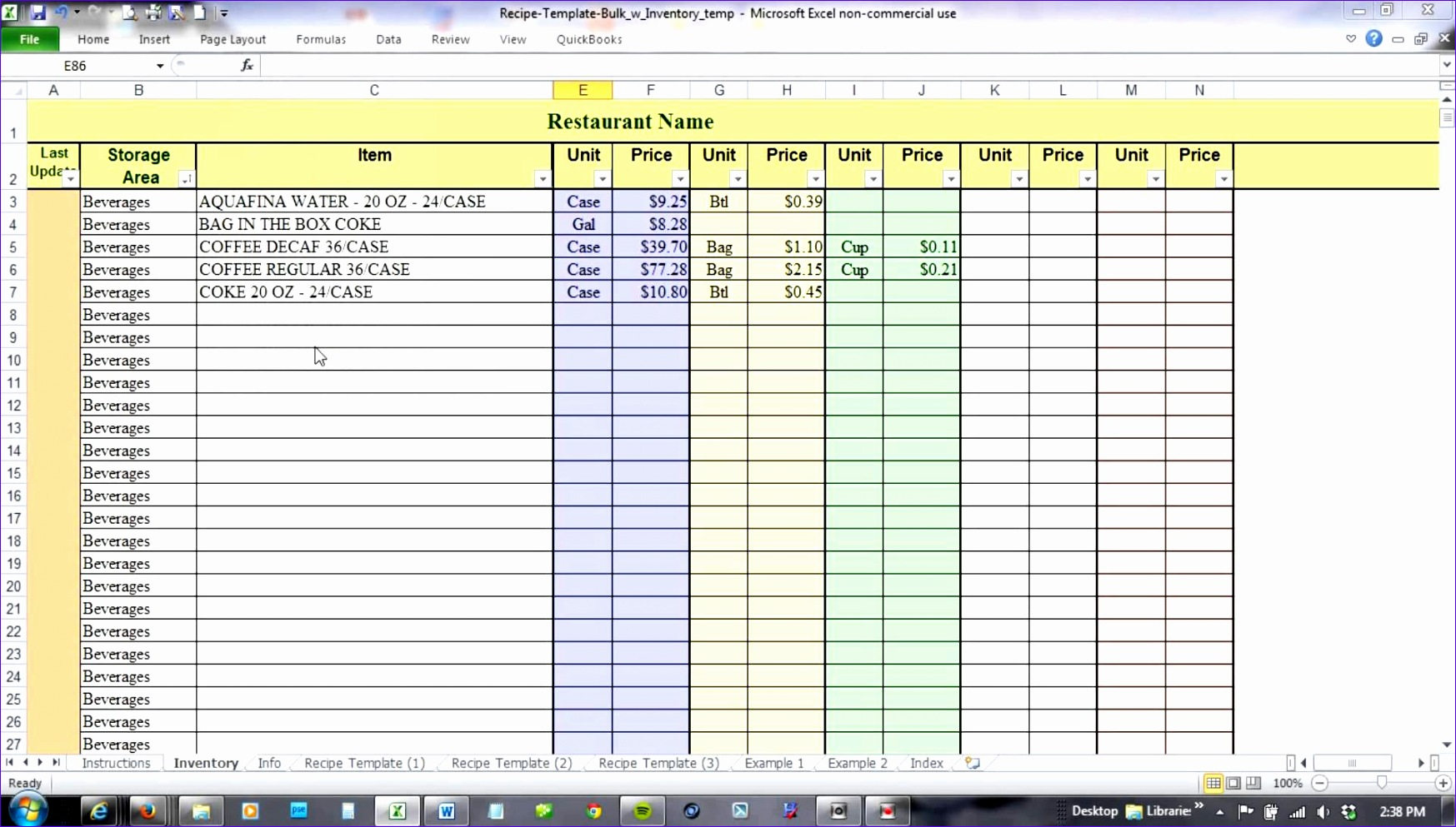 10 Free Excel Templates For Inventory Management
