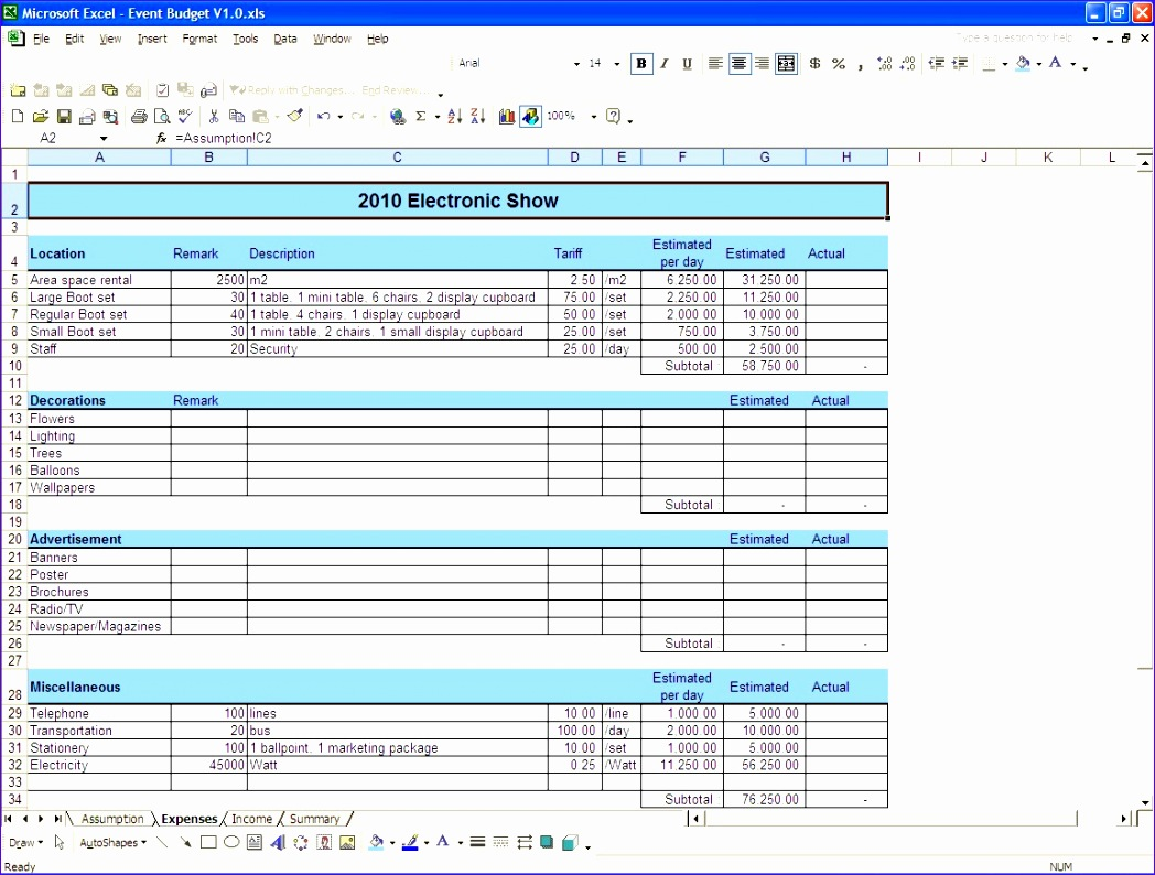 9 Microsoft Excel Budget Template