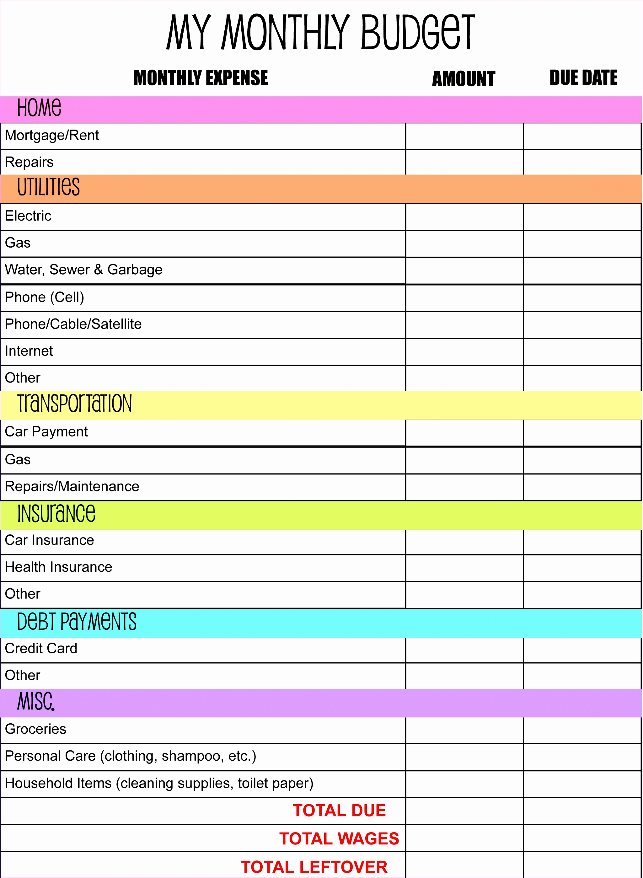 10 Ms Excel Vacation Cost Planner Template