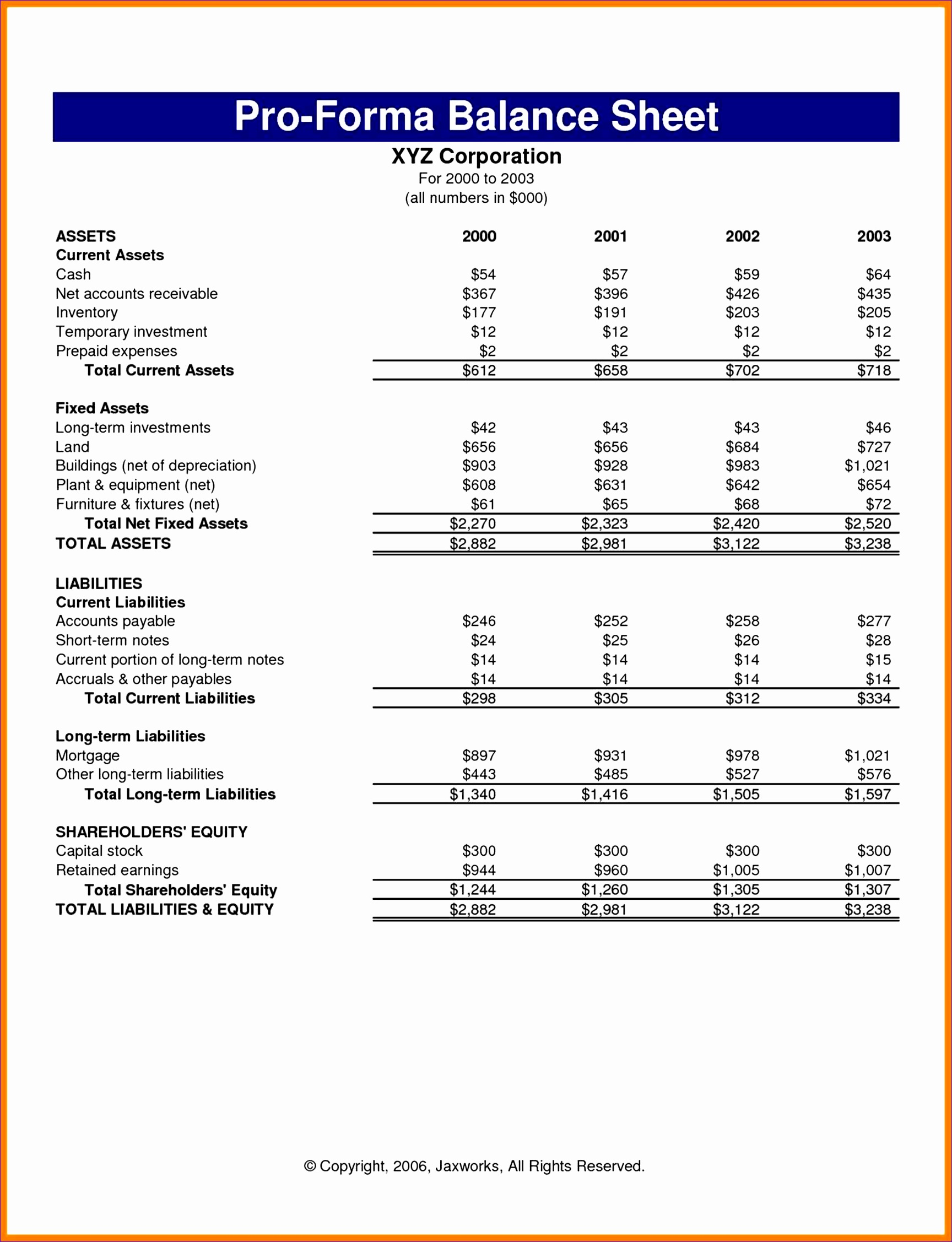 10 Pro Forma Financial Statements Template Excel