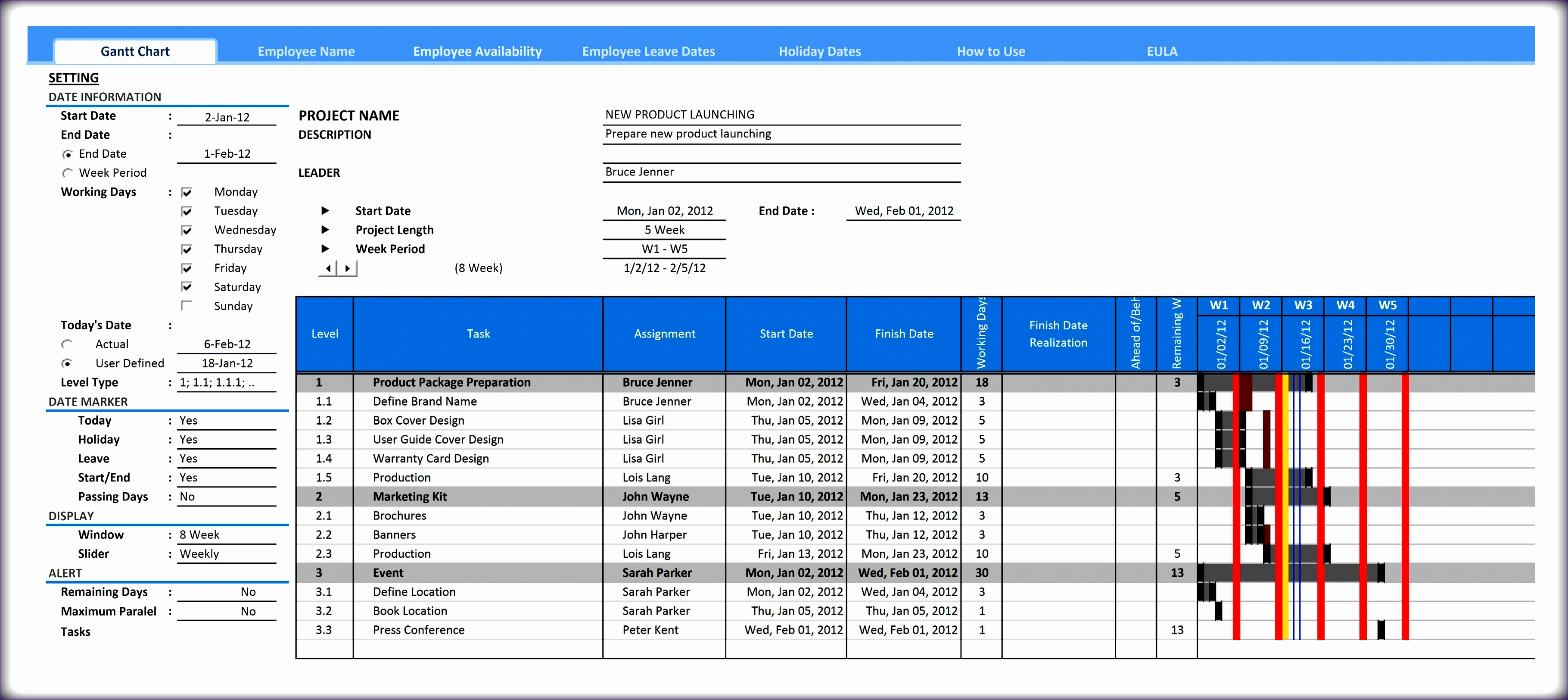 10 Professional Excel Chart Templates