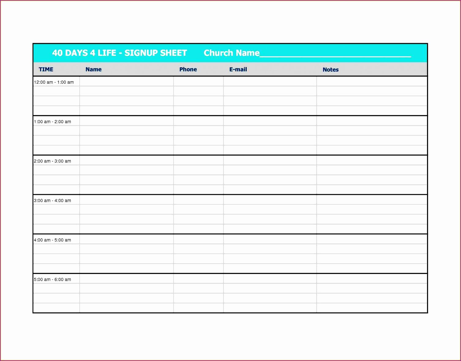 12 Sign Off Sheet Template Excel