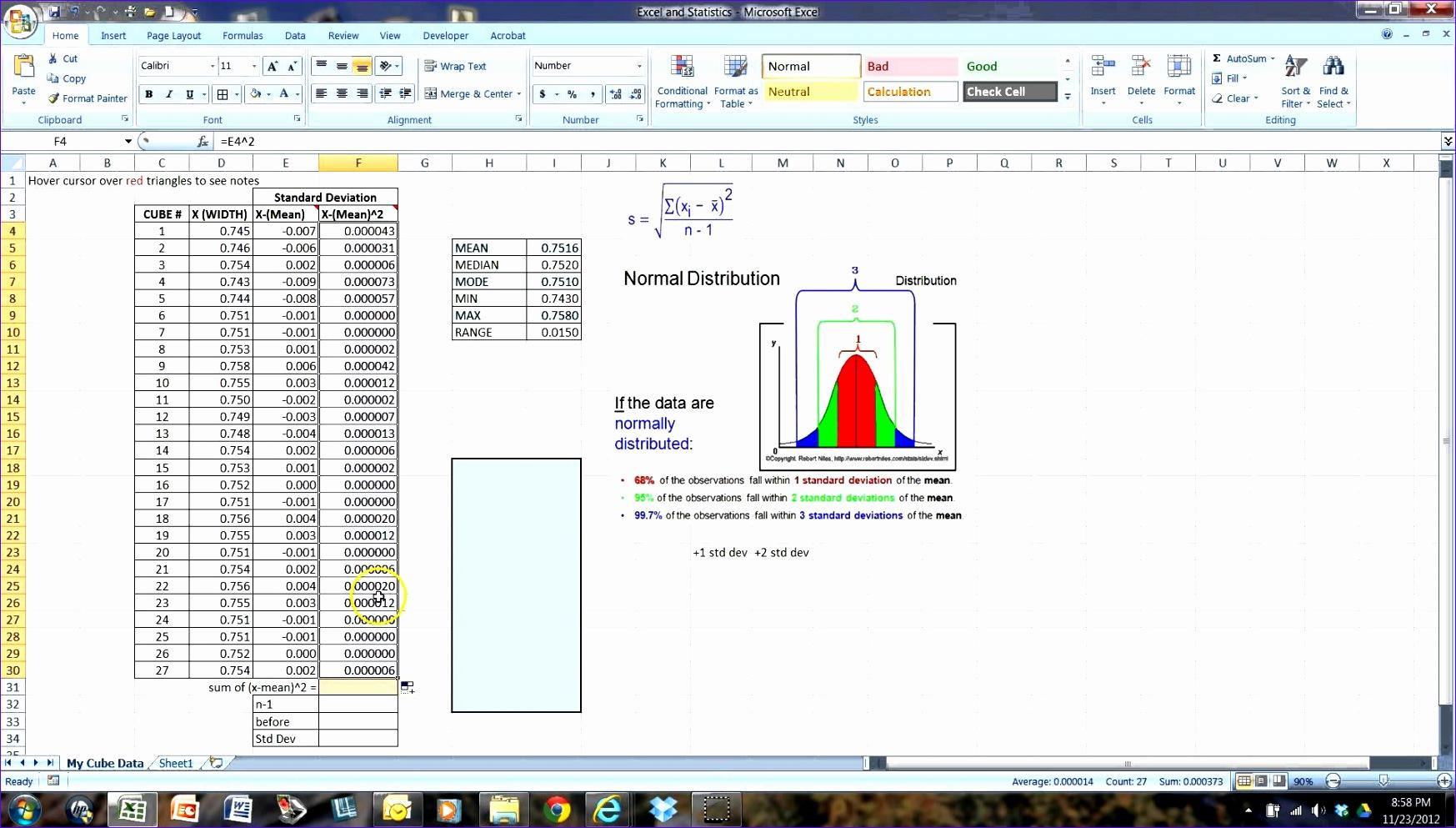 8 Standard Deviation Excel Template