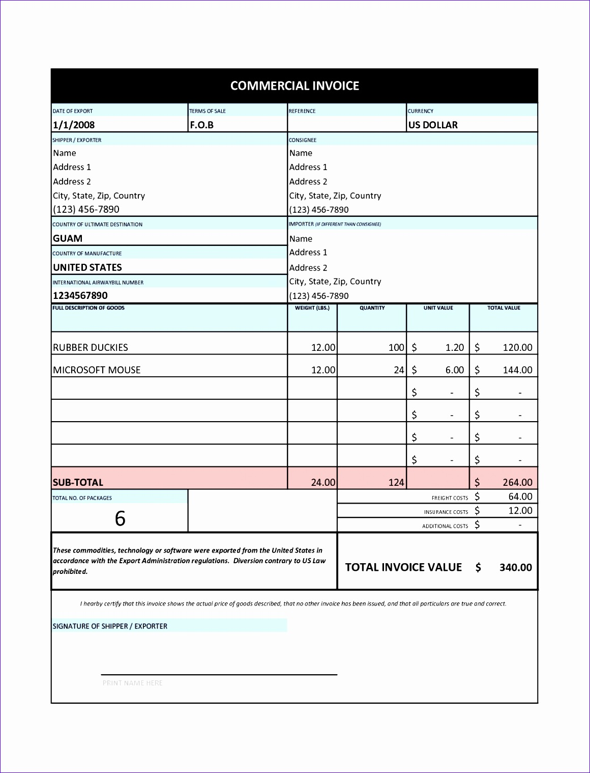 6 Tax Return Excel Template