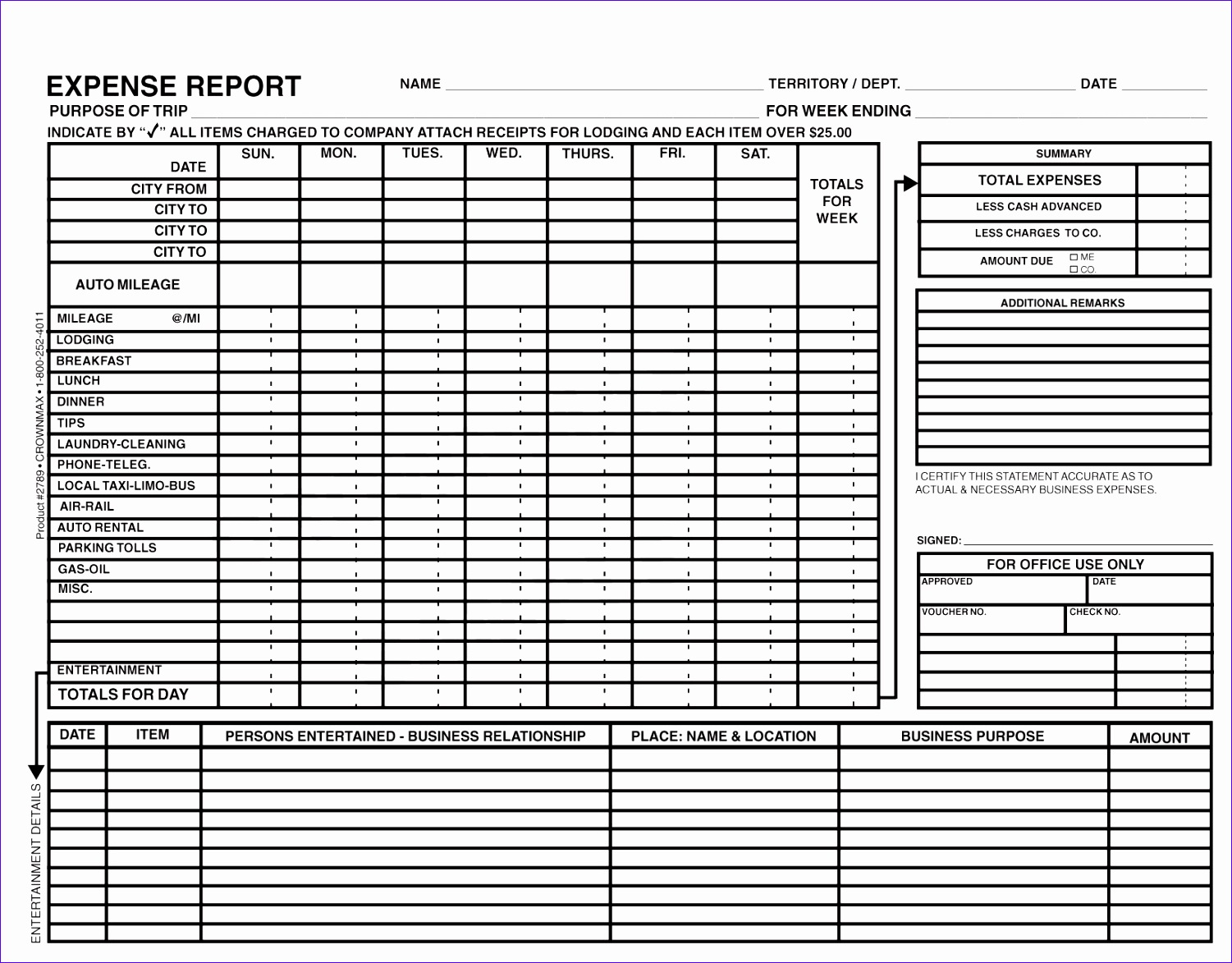8 Travel Expense Report With Mileage Log