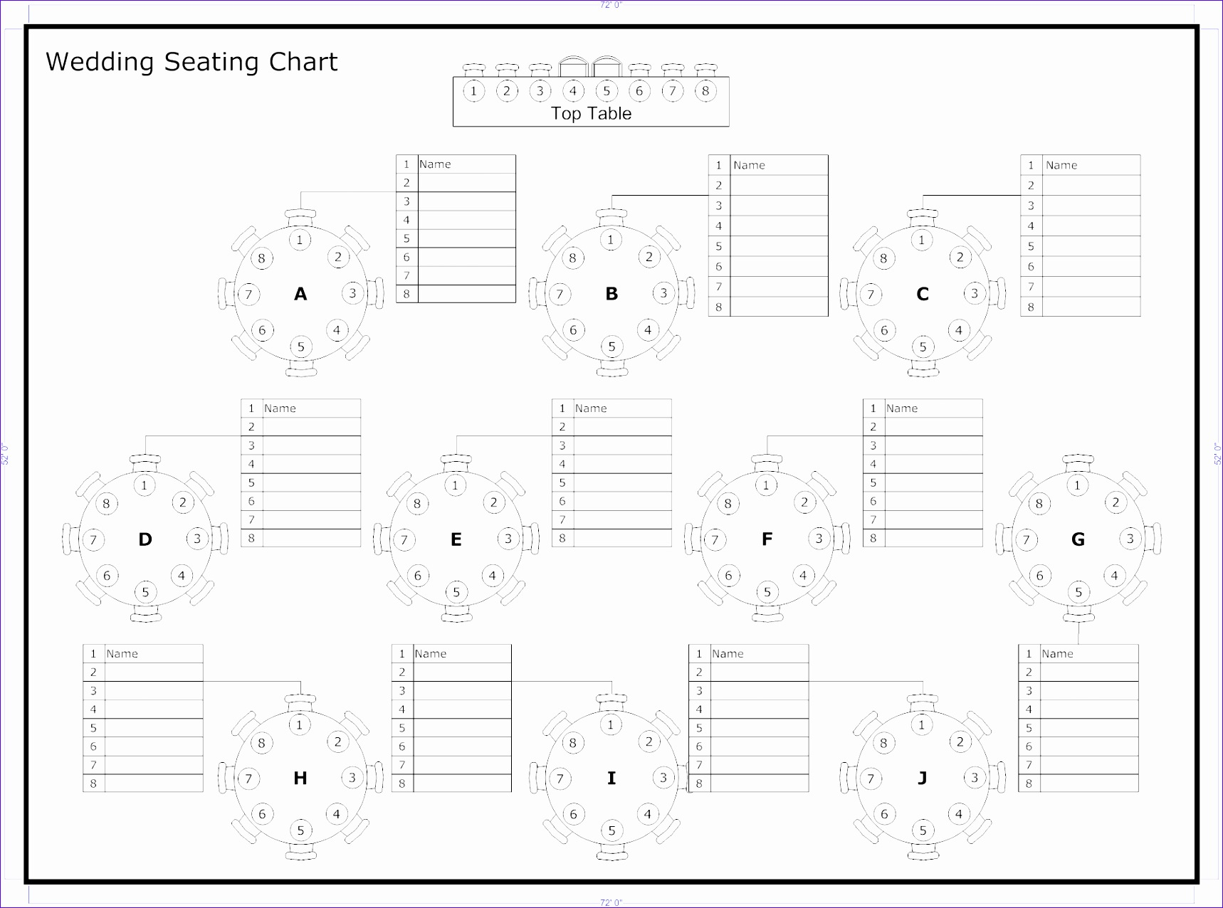 6 Wedding Seating Chart Template Excel