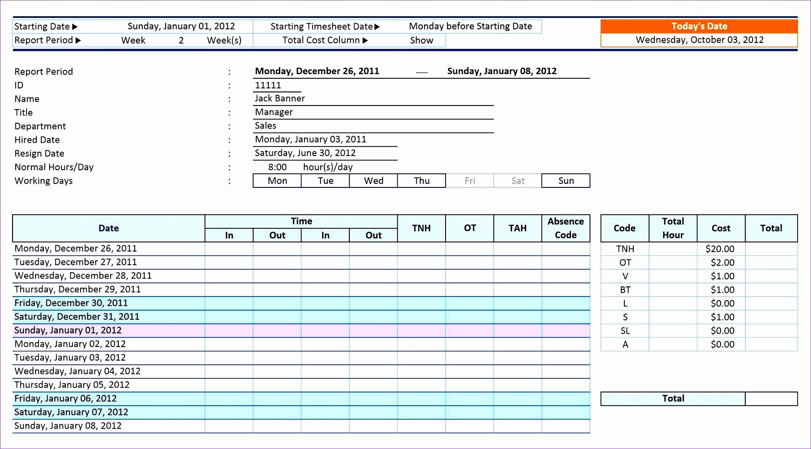 6 Student Attendance Sheet Template Excel