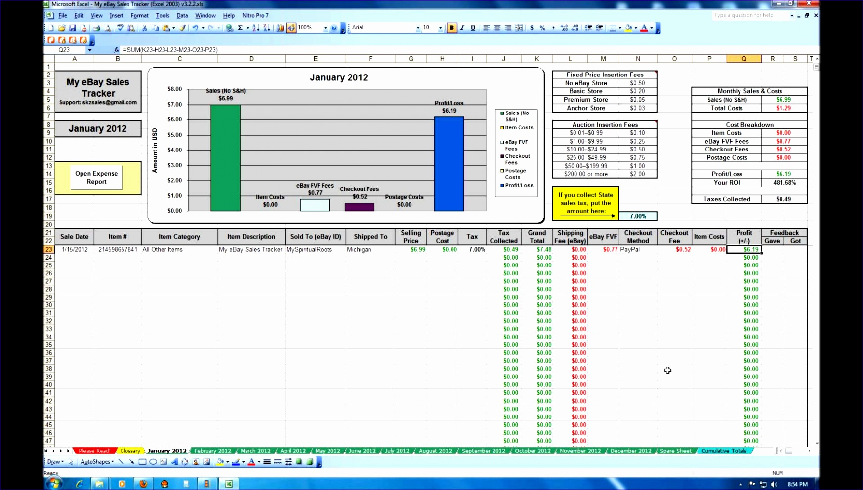 7 Accounting Spreadsheet Templates Excel