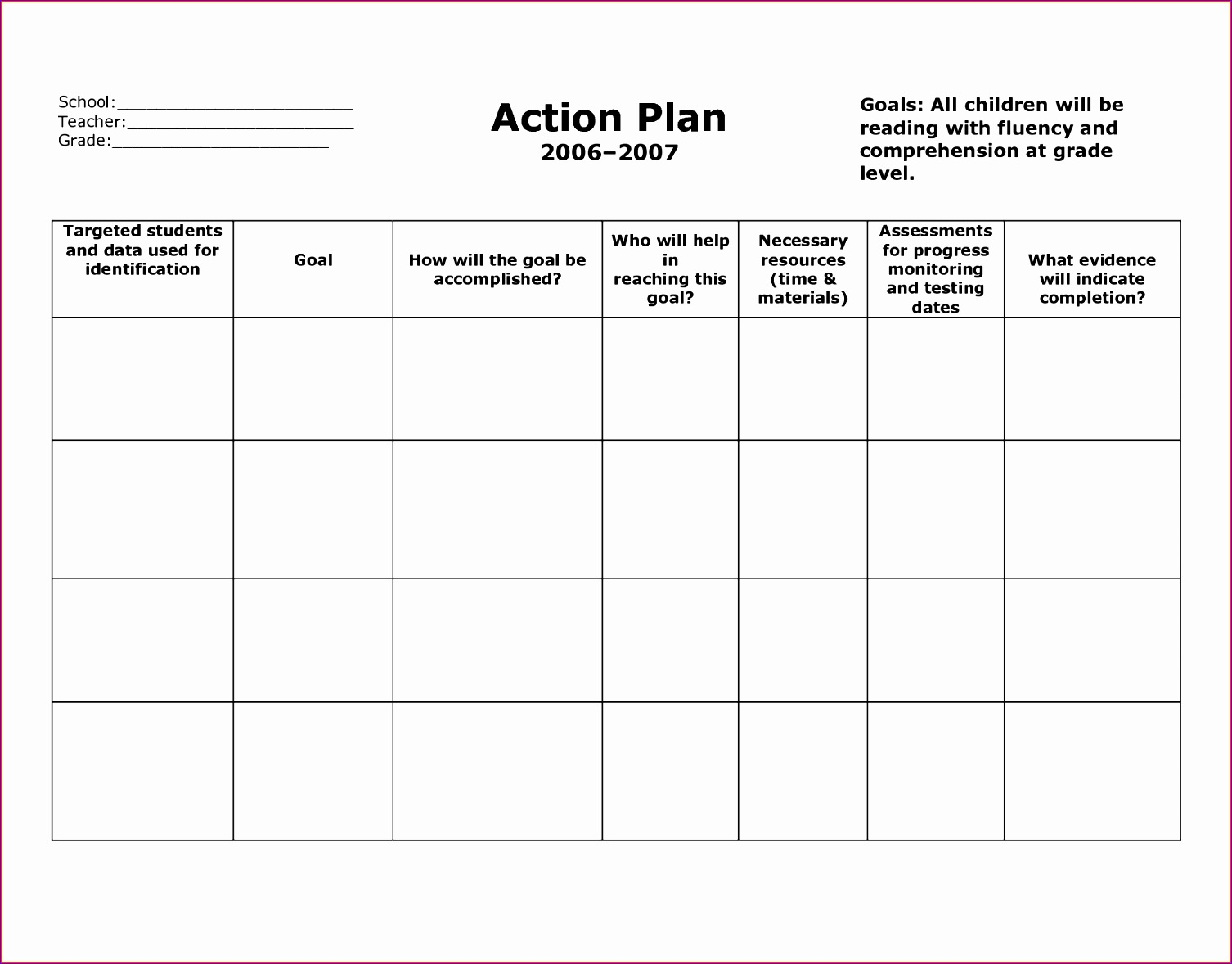 5 Action Item Template Excel