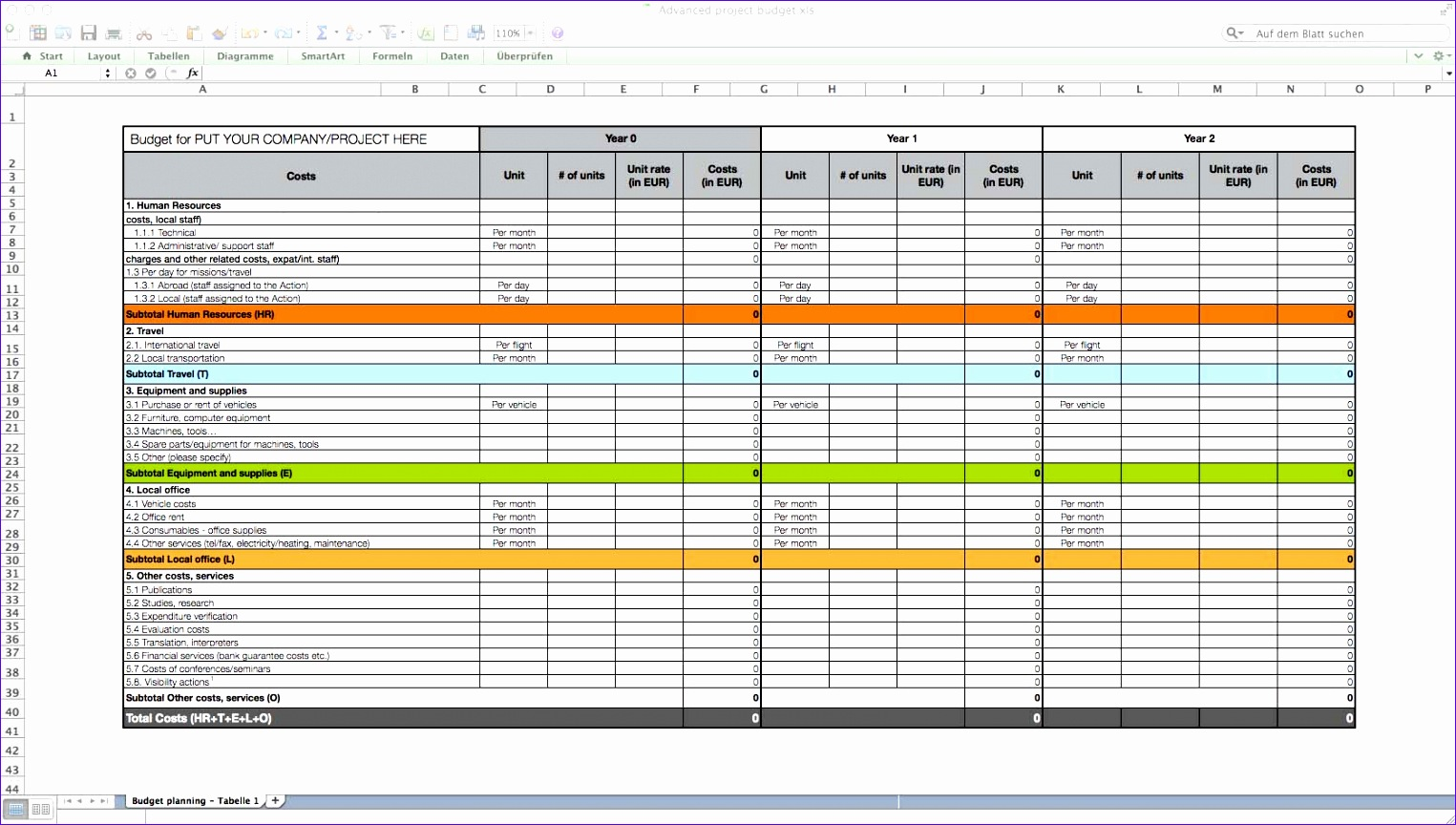 12 Business Case Excel Template