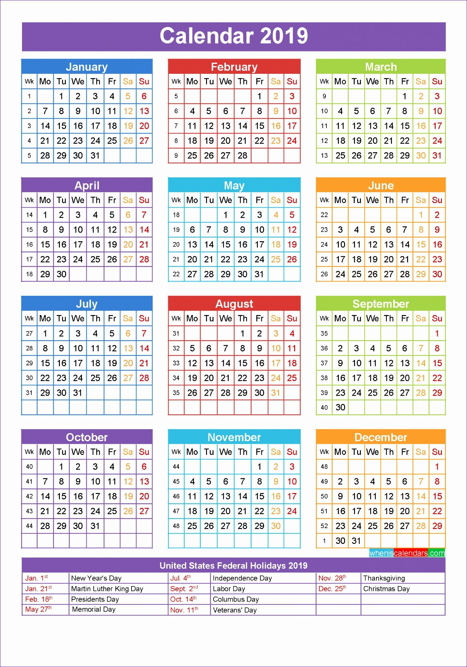 8 Calendar Template Excel