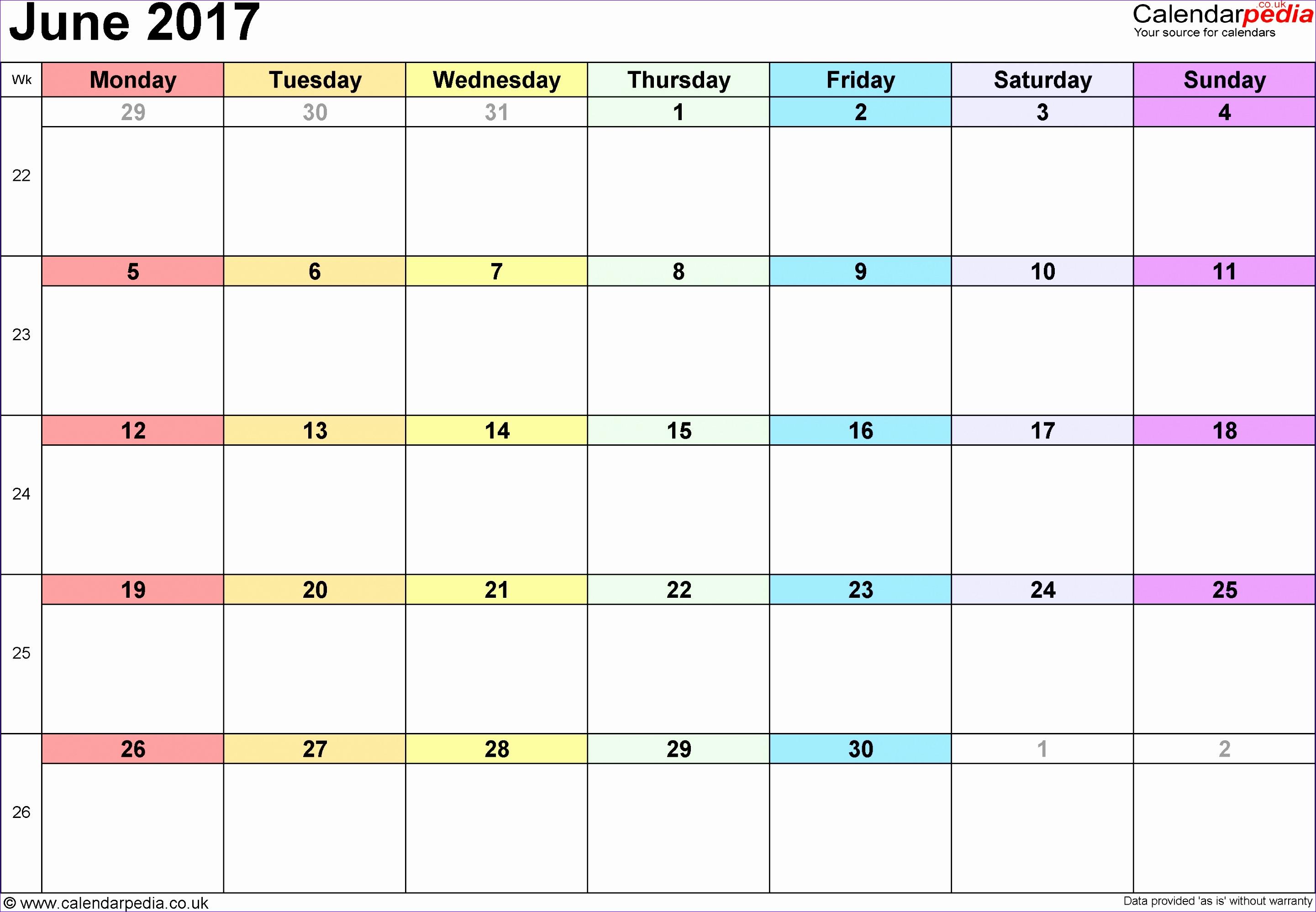 12 Calendar Template On Excel
