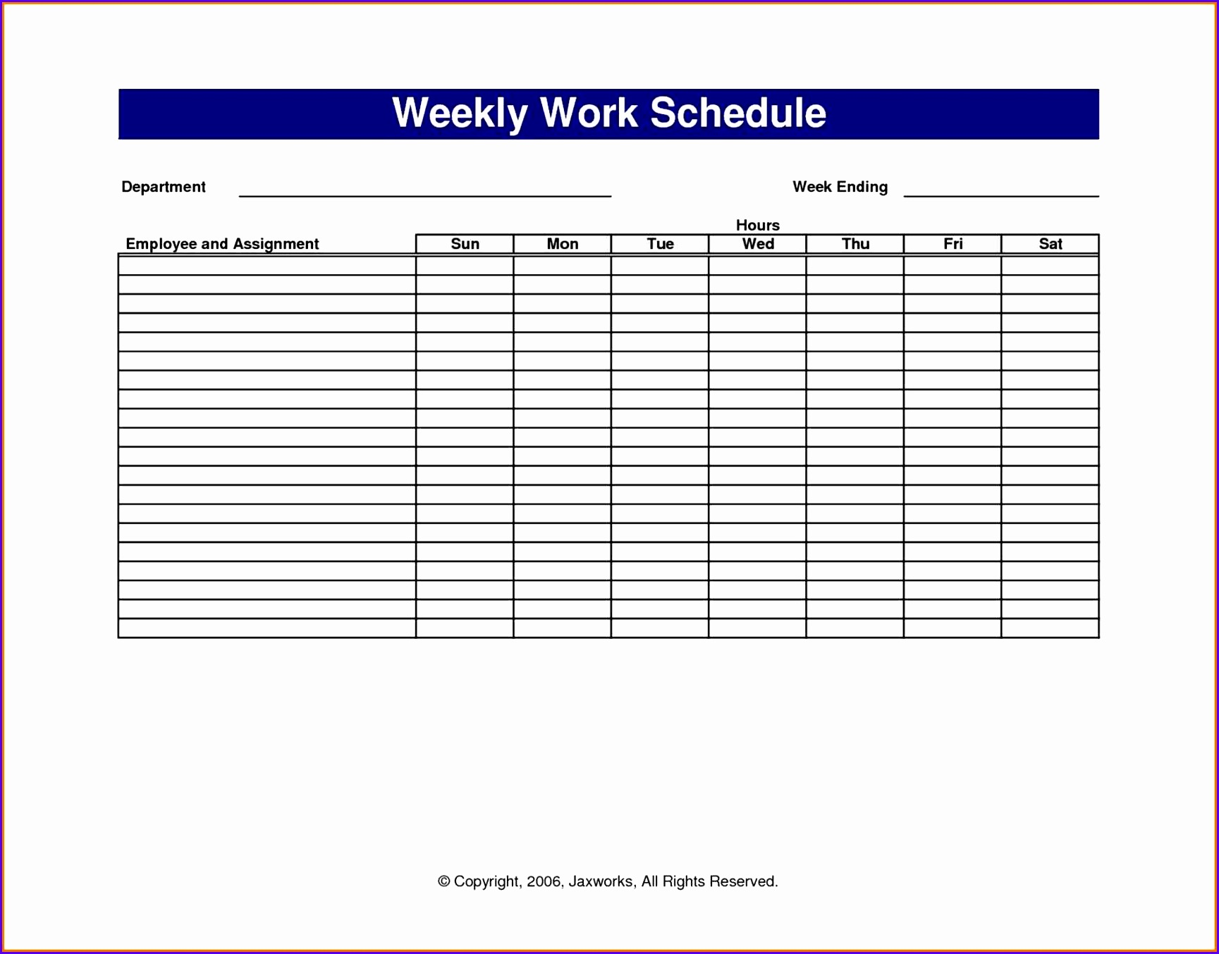 5 Vacation Schedule Template Excel
