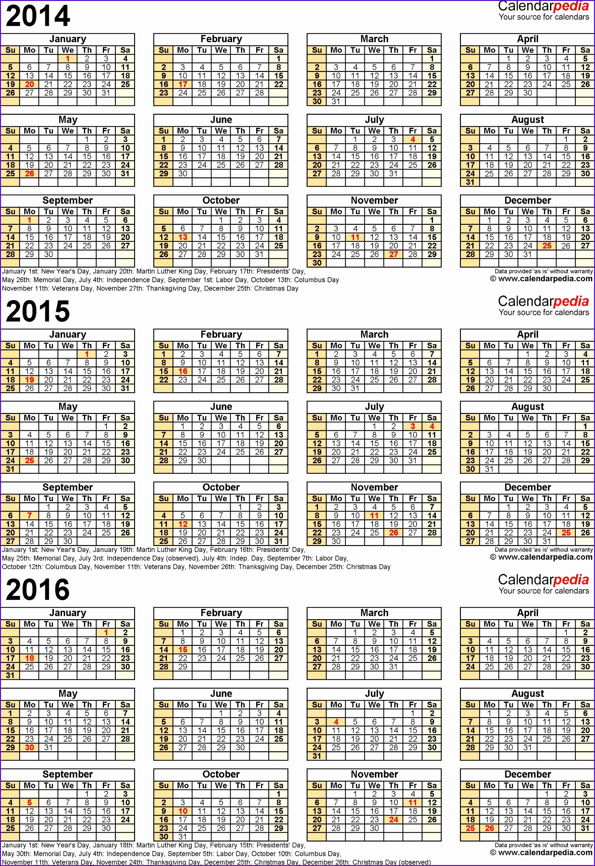 8 Microsoft Excel Calendar Templates