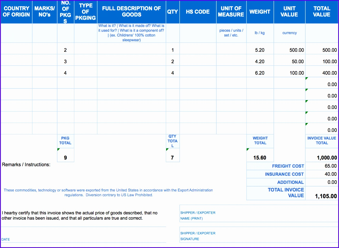 11 Receipt Template Excel Free