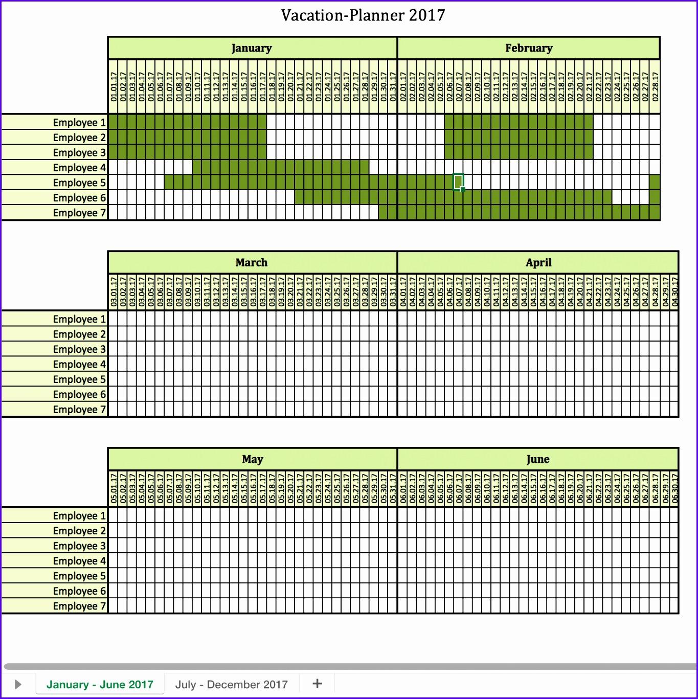 12 Vacation Calendar Template Excel
