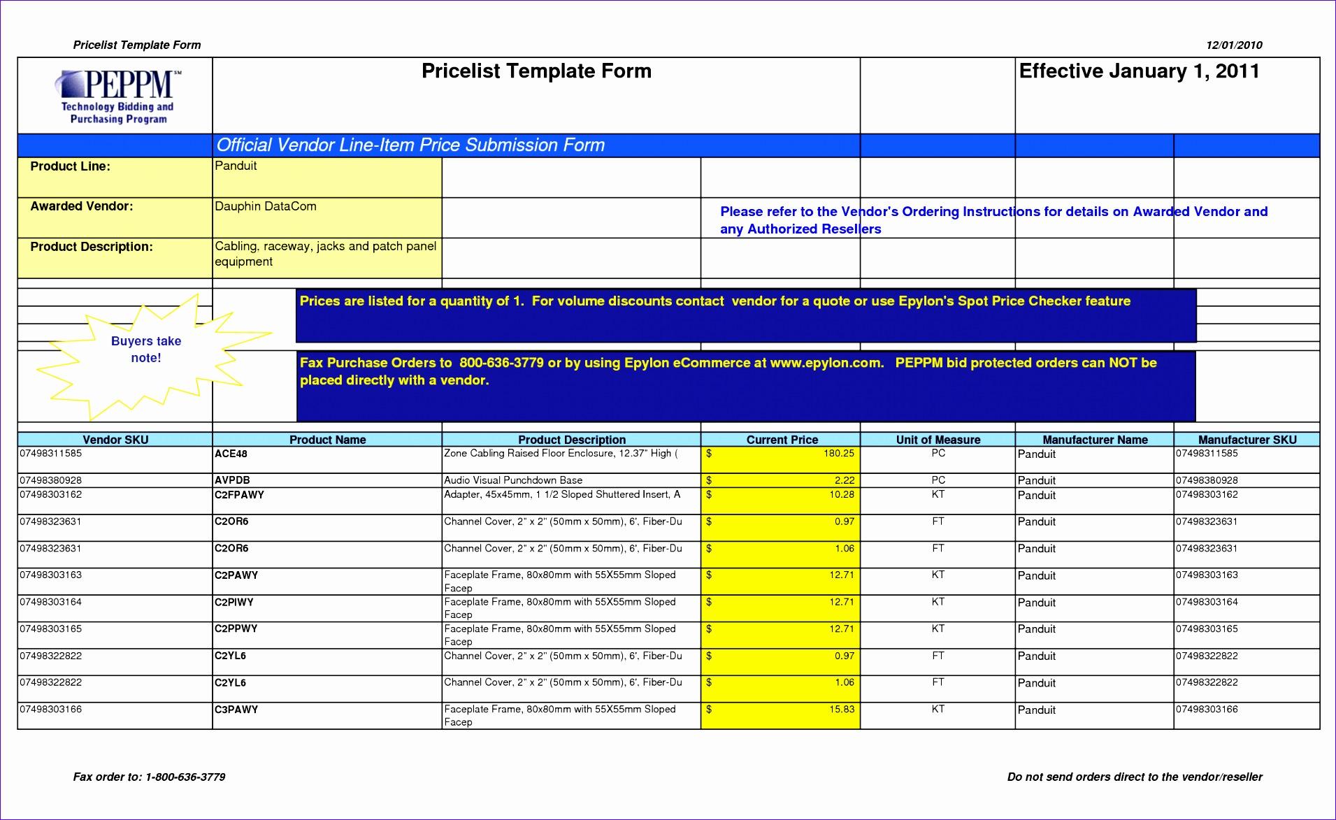 9 Excel List Templates