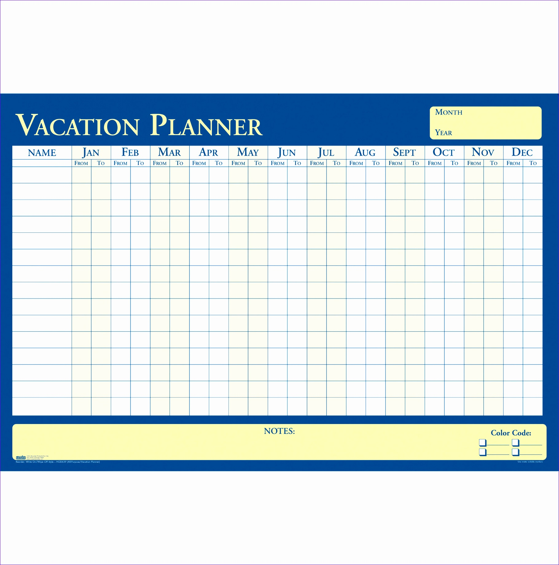 6 Excel Monthly Planner Template