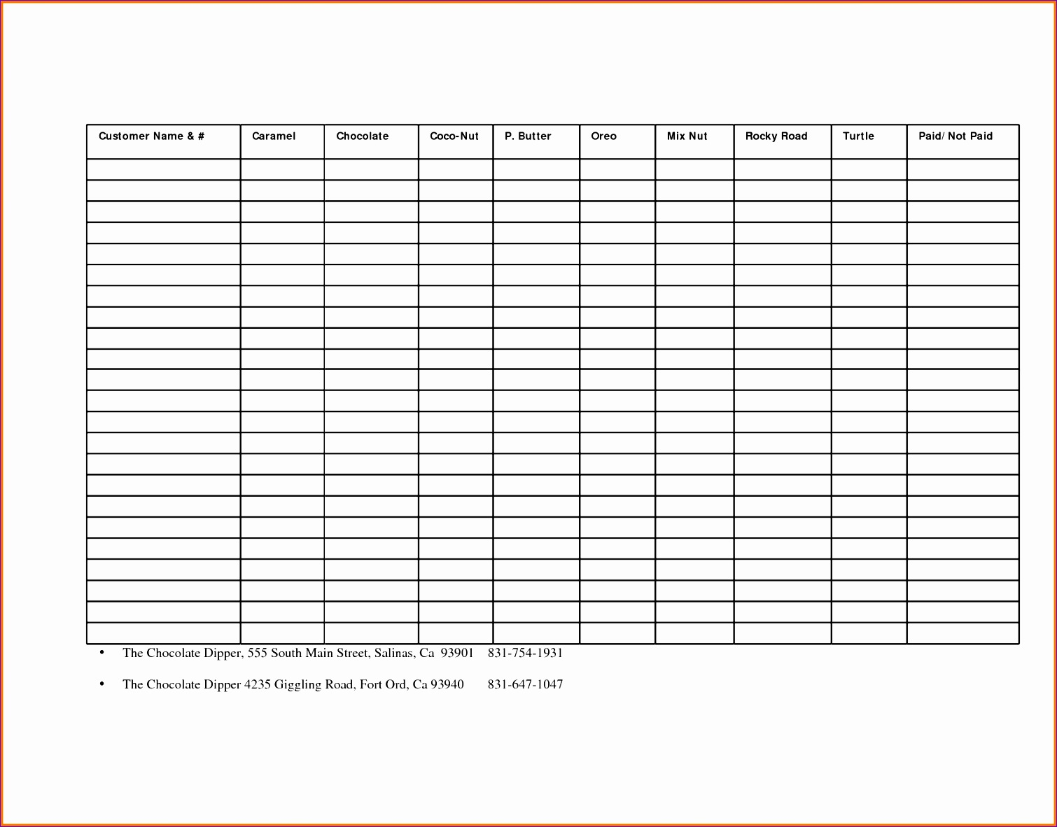 9 Excel Sample Templates