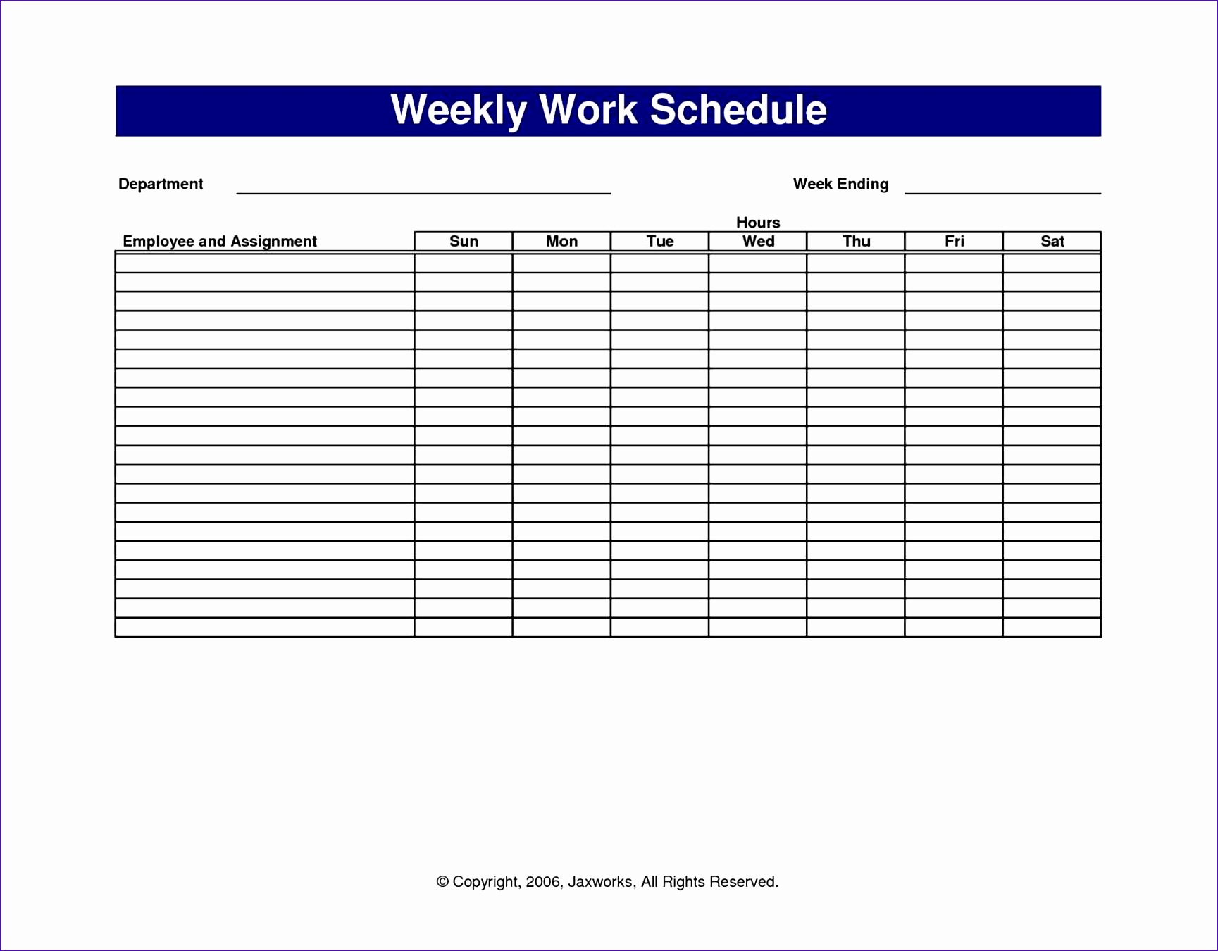 12 Free Excel Shift Schedule Template