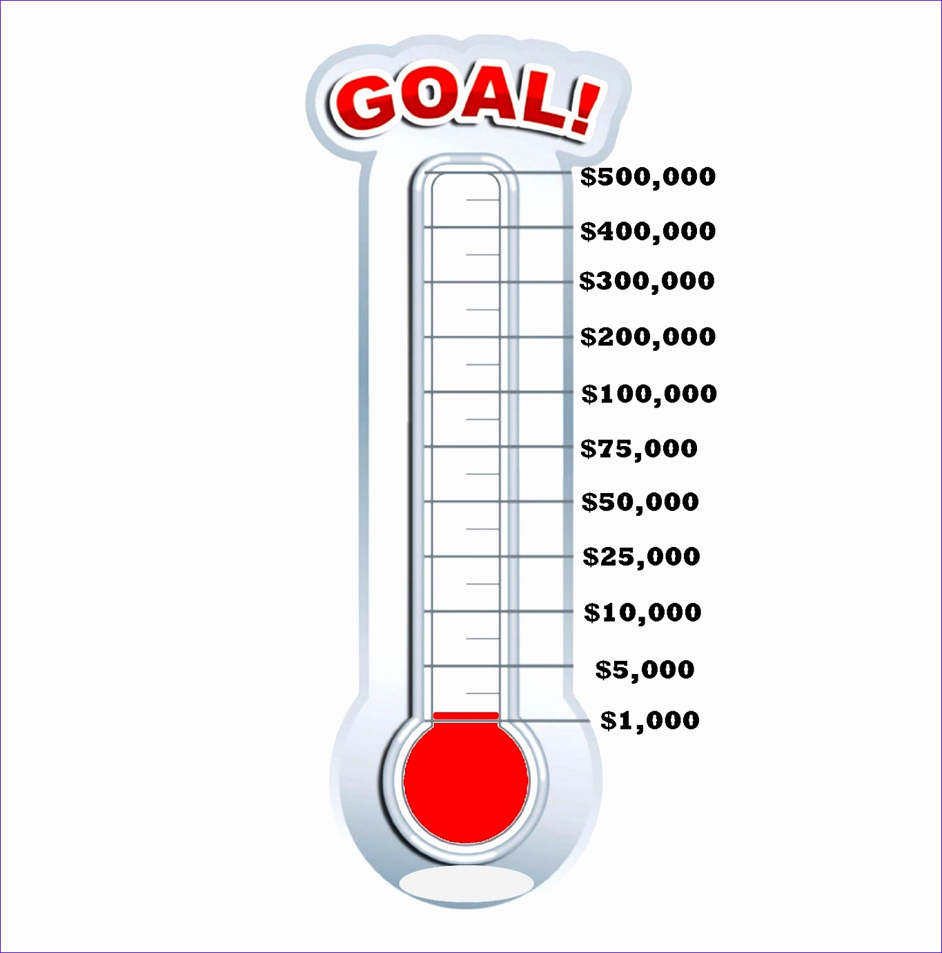 9 Fundraising Thermometer Template Excel